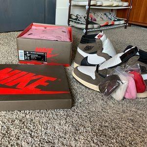 Authentic Jordan 1 Travis Scott Size 9M Shoes